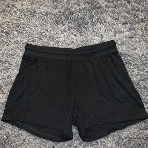 Pants - Black Lounge Shorts